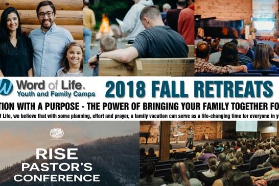 Word of Life Fall Retreats 2018