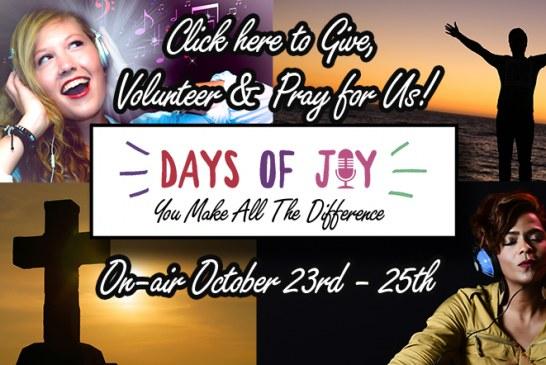 Days of Joy Volunteers Needed